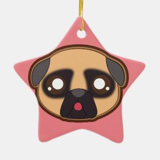 Kawaii funny pug ornament