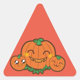 Kawaii funny Pumpkin Triangle Sticker