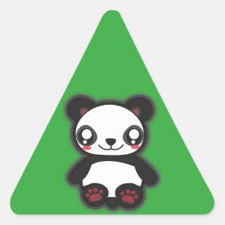 Kawaii funny triangle panda sticker