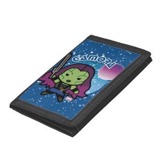 Kawaii Gamora In Space Trifold Wallet
