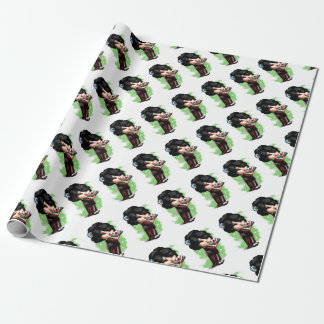Kawaii Geisha Wrapping Paper