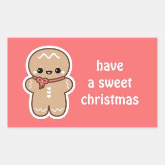Kawaii Gingerbread Man Christmas Sticker