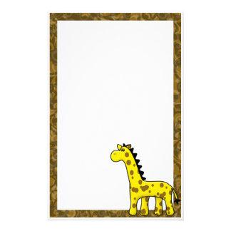 Kawaii Giraffe Stationery (Unlined)