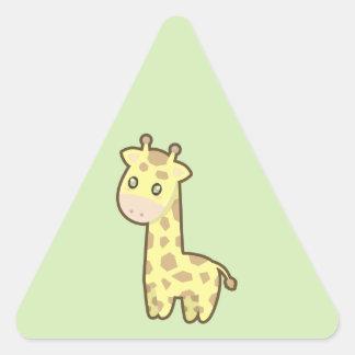 Kawaii Giraffe Triangle Sticker