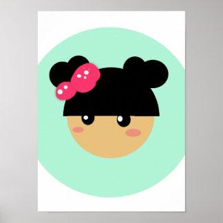 kawaii girl poster