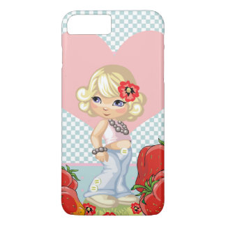 Kawaii girl with strawberries very cute iPhone 8 plus/7 plus case