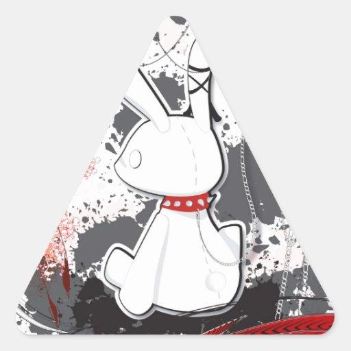 Kawaii goth bunny iPad case Triangle Stickers