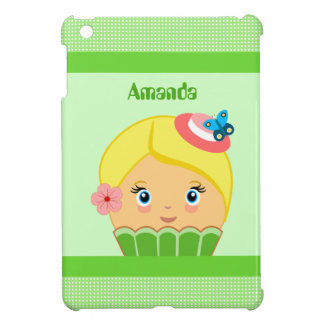Kawaii Green Cute Cupcake Character IPad Mini Case