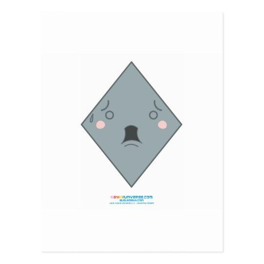 Kawaii Grey Diamond Postcard
