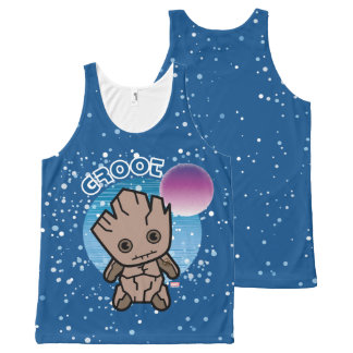 Kawaii Groot In Space All-Over-Print Tank Top