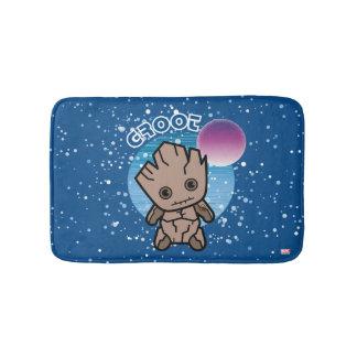 Kawaii Groot In Space Bath Mat