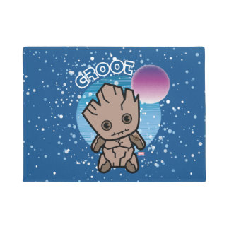 Kawaii Groot In Space Doormat