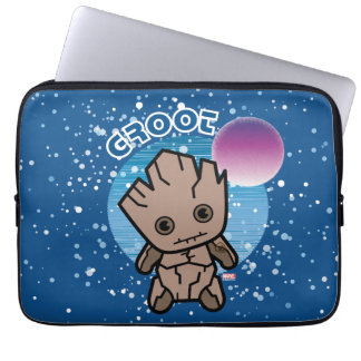 Kawaii Groot In Space Laptop Sleeve