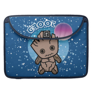 Kawaii Groot In Space Sleeve For MacBooks
