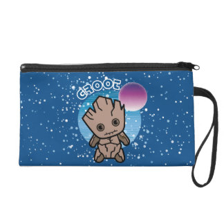 Kawaii Groot In Space Wristlet