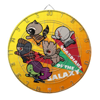 Kawaii Guardians of the Galaxy Group Jump Dartboard