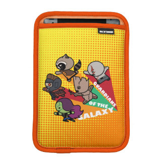 Kawaii Guardians of the Galaxy Group Jump iPad Mini Sleeve