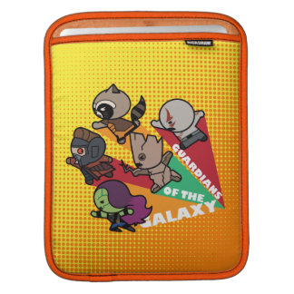 Kawaii Guardians of the Galaxy Group Jump iPad Sleeve