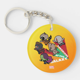 Kawaii Guardians of the Galaxy Group Jump Keychain