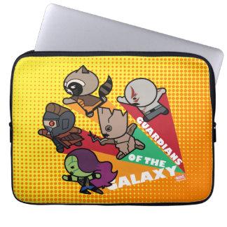 Kawaii Guardians of the Galaxy Group Jump Laptop Sleeve