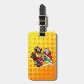 Kawaii Guardians of the Galaxy Group Jump Luggage Tag
