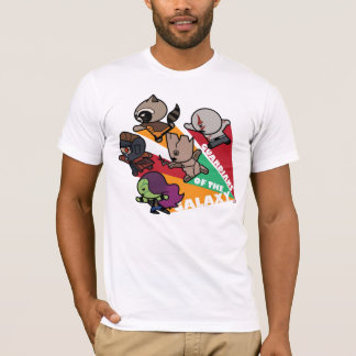 Kawaii Guardians of the Galaxy Group Jump T-Shirt