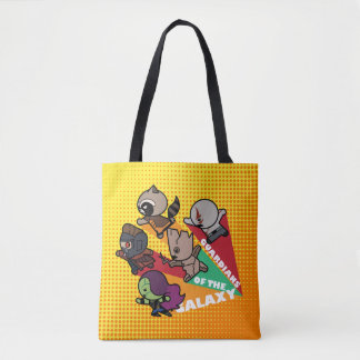Kawaii Guardians of the Galaxy Group Jump Tote Bag