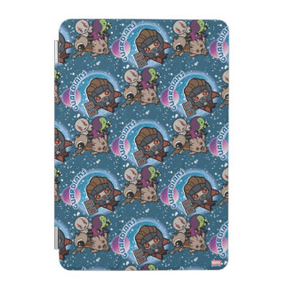 Kawaii Guardians of the Galaxy Pattern iPad Mini Cover
