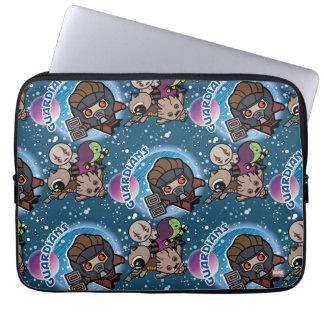 Kawaii Guardians of the Galaxy Pattern Laptop Sleeve
