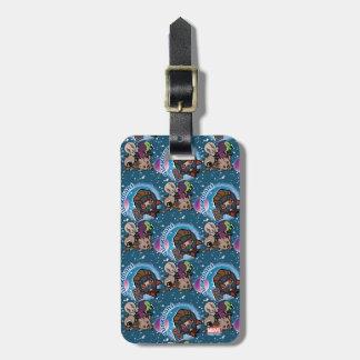 Kawaii Guardians of the Galaxy Pattern Luggage Tag