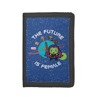 Kawaii Guardians of the Galaxy Planet Graphic Trifold Wallets