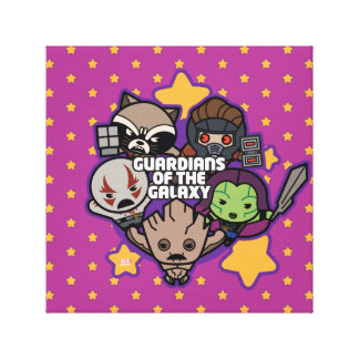 Kawaii Guardians of the Galaxy Star Graphic Canvas Print