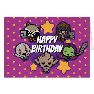 Kawaii Guardians of the Galaxy Star Graphic Card