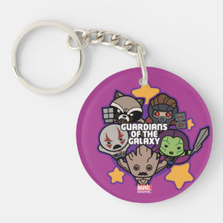 Kawaii Guardians of the Galaxy Star Graphic Keychain