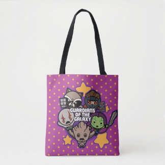 Kawaii Guardians of the Galaxy Star Graphic Tote Bag