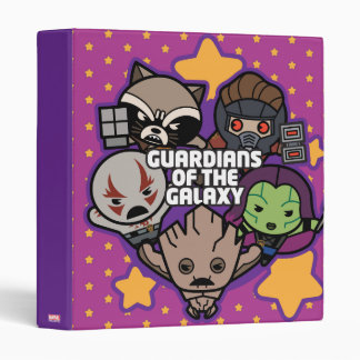 Kawaii Guardians of the Galaxy Star Graphic Vinyl Binder