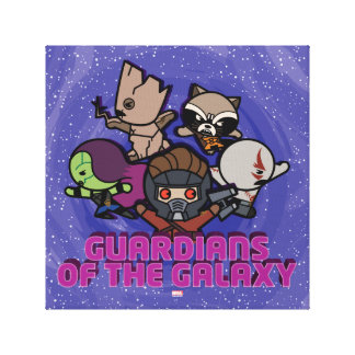 Kawaii Guardians of the Galaxy Swirl Graphic Canvas Print