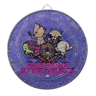 Kawaii Guardians of the Galaxy Swirl Graphic Dartboard