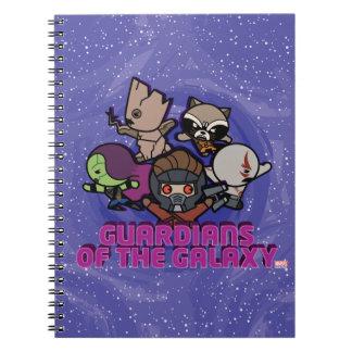 Kawaii Guardians of the Galaxy Swirl Graphic Notebook