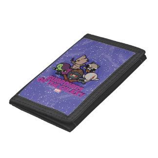 Kawaii Guardians of the Galaxy Swirl Graphic Tri-fold Wallets