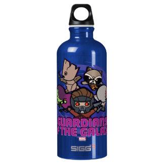 Kawaii Guardians of the Galaxy Swirl Graphic Water Bottle