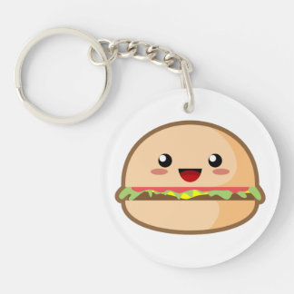 Kawaii Hamburger Keychain