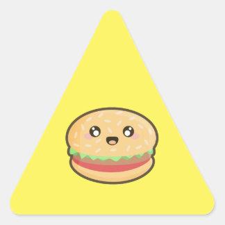 Kawaii hamburger triangle sticker