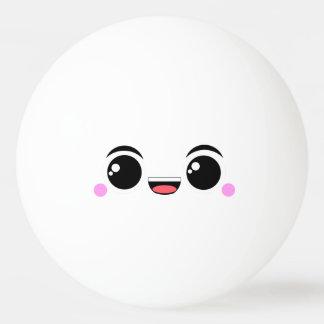 Kawaii Happy Anime Faced Ping Pong Ball