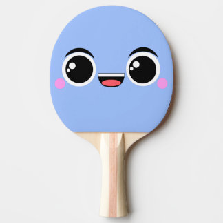 Kawaii Happy Anime Faced Ping Pong Paddle