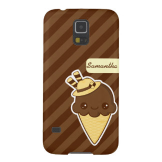 Kawaii Happy chocolate Ice cream cone Galaxy S5 Covers