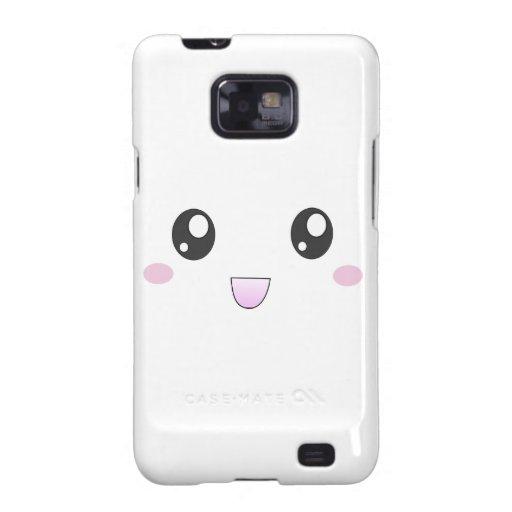 Kawaii Happy Face Samsung Galaxy S Covers