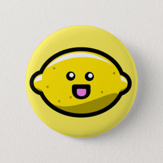 Kawaii Happy Lemon 2 Inch Round Button