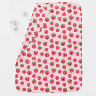 Kawaii Happy Strawberries Baby Blanket