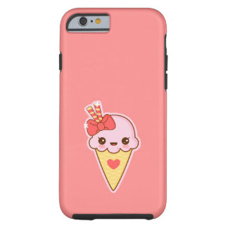 Kawaii Happy Strawberry Ice cream cone Tough iPhone 6 Case